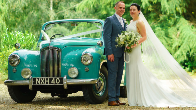 "Lanchester Coupe de Ville ""Cabriolet"" wedding car for hire in Andover, Hampshire"