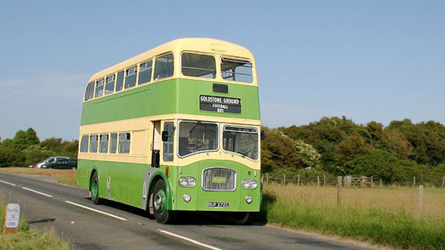Leyland PD3/4 Bus 'Queen Mary' wedding car for hire in Newhaven, East Sussex