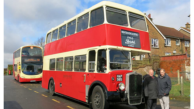 Bristol KSW 6G 'K' Type Bus wedding car for hire in Newhaven, East Sussex