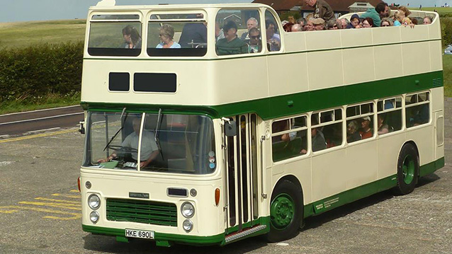 Bristol VR Open Top Bus wedding car for hire in Newhaven, East Sussex