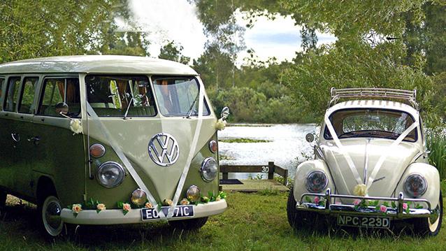 Volkswagen Beetle wedding car for hire in Guildford, Surrey