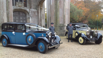 A Pair of Vintage 1930's Rolls-Royce's wedding car for hire in Poole, Dorset
