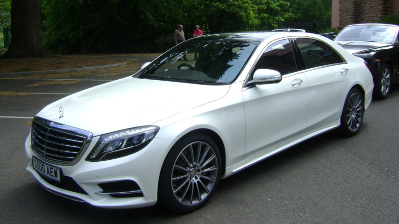 Modern Mercedes Wedding Car Hire Paignton Torbay Devon