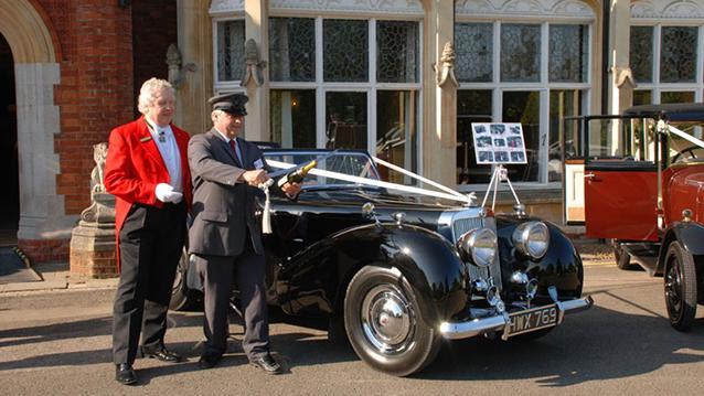 Triumph Roadster wedding car for hire in Milton Keynes, Buckinghamshire