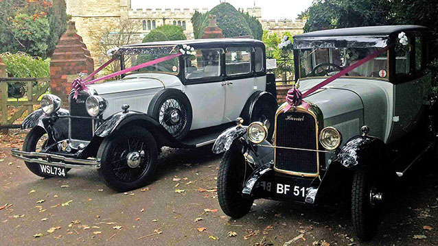 A Pair of Vintage Citroën's wedding car for hire in Milton Keynes, Buckinghamshire