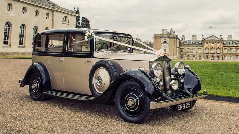 Rolls-Royce 25/30 Limousine wedding car for hire in Milton Keynes, Buckinghamshire