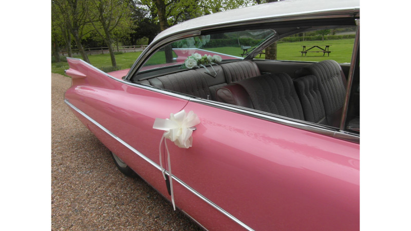 Cadillac Coupe de Ville wedding car for hire in Bournemouth, Dorset