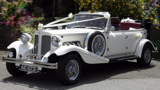 Beauford 4 Door Convertible wedding car for hire in Bexhill on Sea, East Sussex