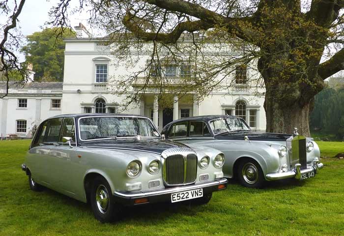 Classic Daimler Limousine Classic Wedding Car Hire in Devon, Paignton
