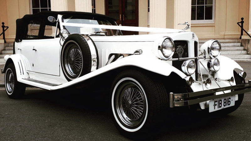 Beauford Convertible wedding car for hire in Barnet, London