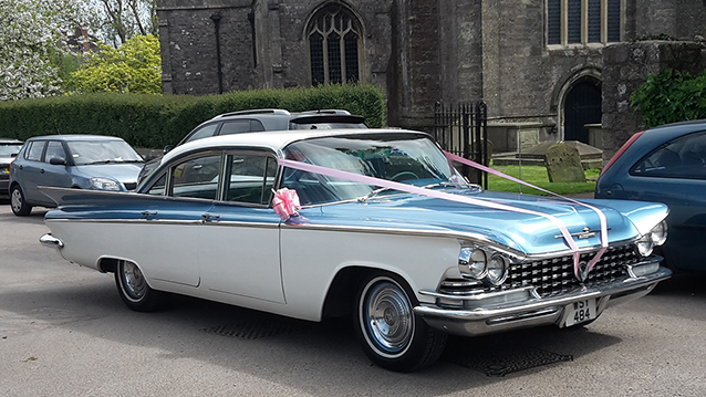 Buick LeSabre wedding car for hire in Bristol