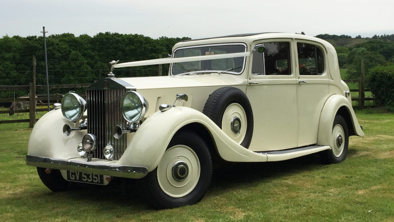 Rolls-Royce Phantom III Limousine wedding car for hire in Ringwood, Hampshire