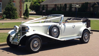 Beauford Open Tourer wedding car for hire in Maidstone, Kent