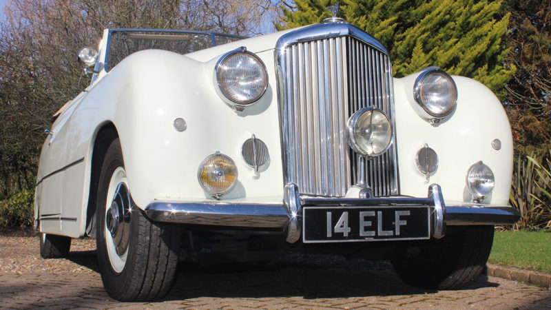 Bentley Franay Convertible wedding car for hire in Cobham, West London