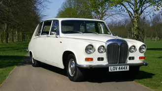 Daimler DS420 Limousine wedding car for hire in Cobham, West London