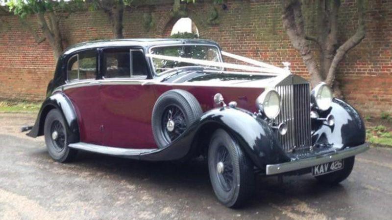 Rolls-Royce Phantom III wedding car for hire in Richmond, West London