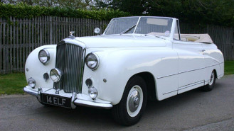 Bentley Franay Convertible wedding car for hire in Richmond, West London