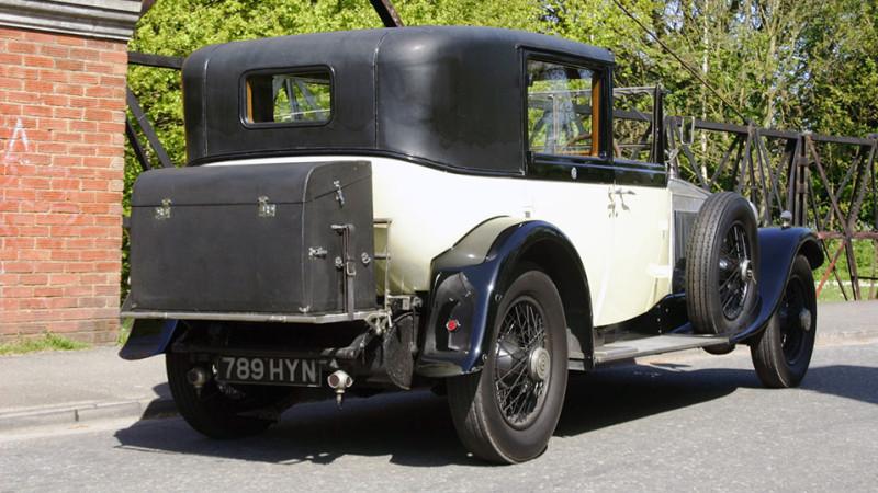 Rolls-Royce Phantom I Sedanca wedding car for hire in Richmond, West London