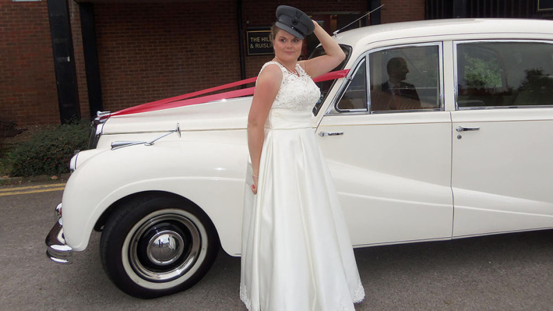 Armstrong-Siddeley Limousine wedding car for hire in Uxbridge, Middlesex