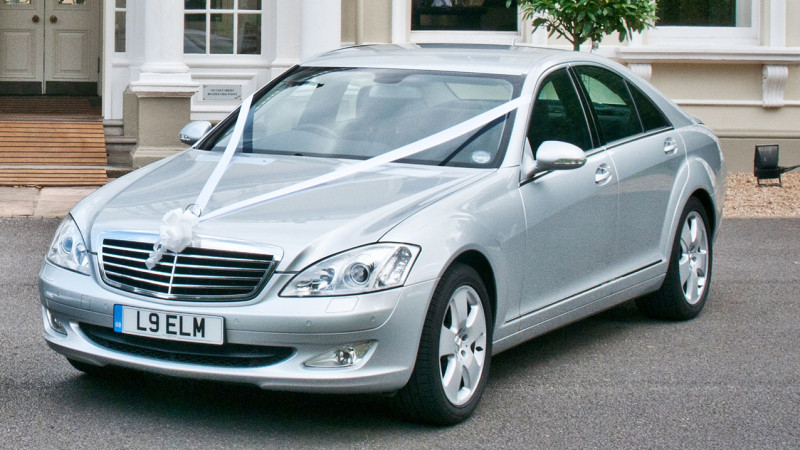 Mercedes 'S' Class 320 CDI wedding car for hire in New Malden, Surrey