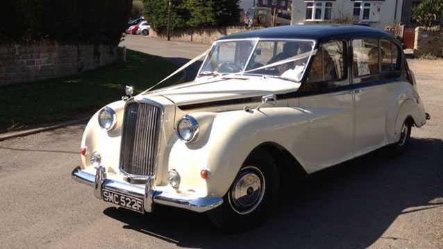 Austin Princess Limousine wedding car for hire in Leicester, Leicestershire
