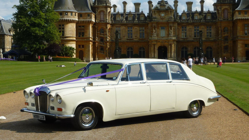 Daimler DS420 Limousine wedding car for hire in Winslow, Buckinghamshire