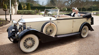 Rolls-Royce 20/25 Convertible wedding car for hire in Hatfield, Hertfordshire