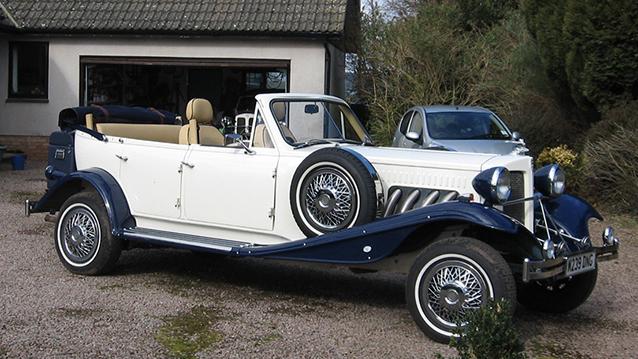 Beauford Open Tourer Convertible wedding car for hire in Bristol, Somerset