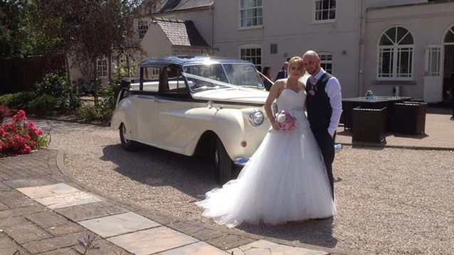 Austin Princess Landaulette wedding car for hire in Leicester, Leicestershire