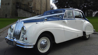 Armstrong-Siddeley Sapphire wedding car for hire in Rochester, Kent