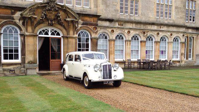 Austin Sheerline Landaulette wedding car for hire in Leicester, Leicestershire