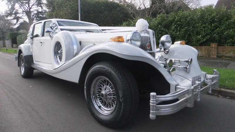 Excalibur Touring Sedan wedding car for hire in Ferndown, Dorset