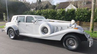 Excalibur Touring Sedan wedding car for hire in Ferndown, Dorset