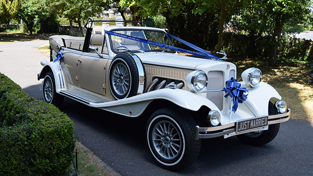 Beauford 4 Door Convertible Tourer wedding car for hire in Greenhithe, Kent