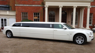 Chrysler 300c Stretched Limousine wedding car for hire in Ware, Hertfordshire