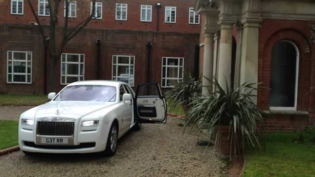 Rolls-Royce Ghost wedding car for hire in Ware, Hertfordshire