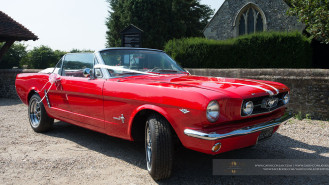 Ford Mustang V8 Convertible wedding car for hire in Rainham, Essex