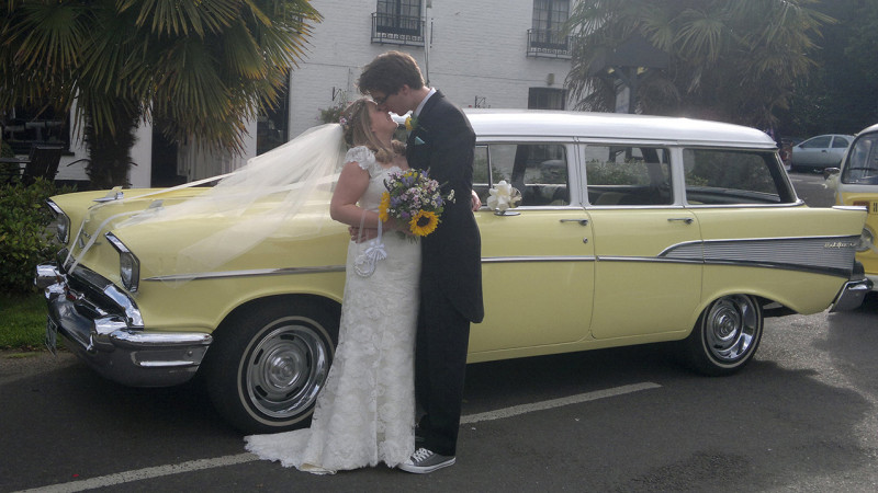 Chevrolet Station Wagon wedding car for hire in Aldershot, Hampshire