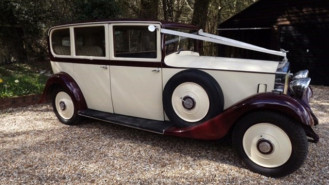 Rolls-Royce 20/25 Limousine wedding car for hire in Ringwood, Hampshire