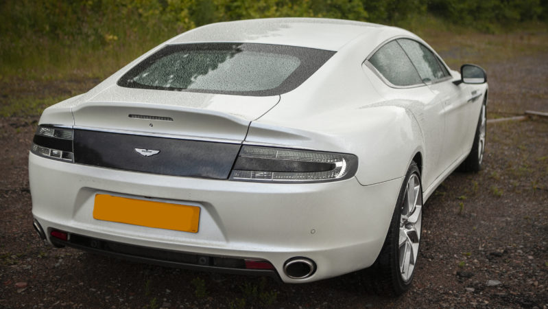 Aston Martin V12 Rapide 'S' wedding car for hire in Cardiff, South Wales