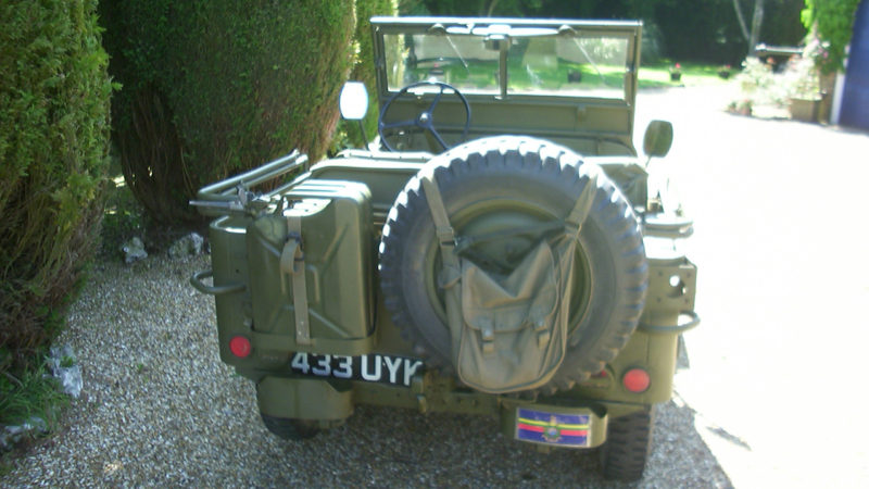 Willy's 'Hotchkiss' Jeep wedding car for hire in Winchester, Hampshire