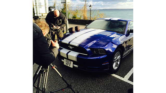 Ford Mustang Fastback wedding car for hire in Truro, Cornwall