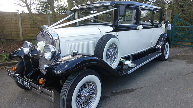 Bramwith Landaulette wedding car for hire in Ringwood, Hampshire