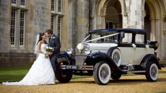 Badsworth Landaulette wedding car for hire in Ringwood, Hampshire