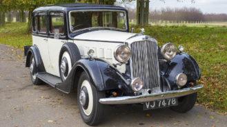 Humber 16/60 Saloon wedding car for hire in Hampton Court, London