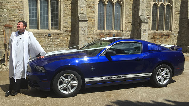 Ford Mustang Fastback wedding car for hire in Cardigan, Ceredigion
