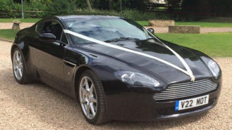 Aston Martin Vantage V8 wedding car for hire in Yeovil, Somerset