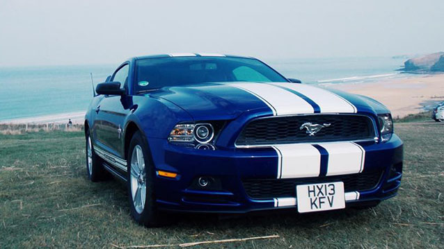 Modern Ford Mustang Wedding Car Hire Truro, Cornwall