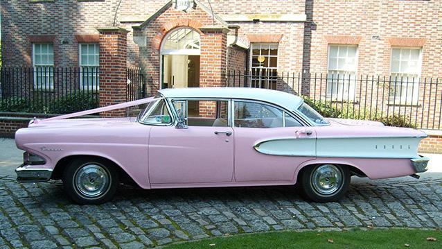 Ford Edsel wedding car for hire in Aldershot, Hampshire