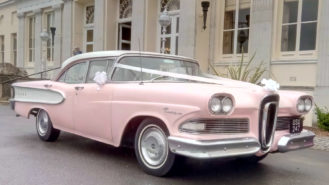 Ford Edsel wedding car for hire in Aldershot, Hampshire